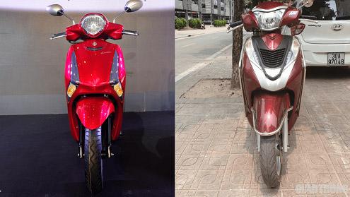 Yamaha Latte 2020 (trái) với Honda Lead (phải)