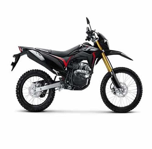 Honda CRF150L màu Extreme Black, đậm chất thể thao, bụi bặm
