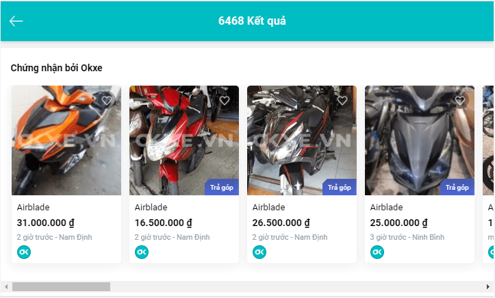 Tìm hiểu giá xe qua các trang Web